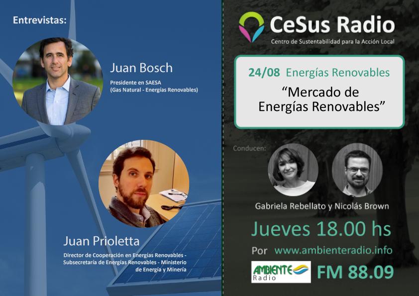 #CeSusRadio: Mercado de Energías Renovables, Plan Renovar 2.0 y Resolución MATER